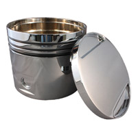 Novello Piston Chrome Jewelry Box