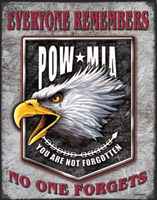 Nostalgic Images POW Eagle Metal Sign