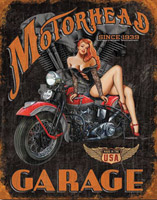 Nostalgic Images Motorhead Garage Metal Sign
