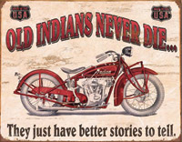 Nostalgic Images Indian - Better Stories Metal Sign