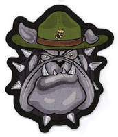 Lethal Threat Marine Bulldog Embroidered Patch