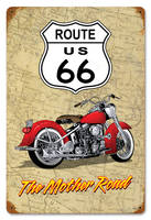 The Mother Road Vintage Style Metal Sign