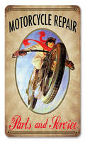 Motorcycle Repair Vintage Style Metal Sign