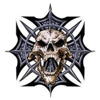Lethal Threat Spike Skull Cross Decal