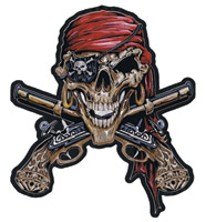 Lethal Threat Pirate Skull Patch