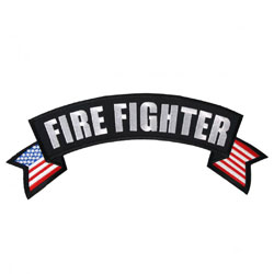 Hot Leathers Firefighter Flag Banner Patch