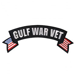 Hot Leathers Gulf War Vet Flag Banner Patch