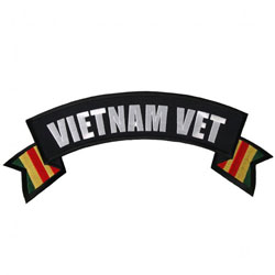 Hot Leathers Vietnam Vet Flag Banner Patch