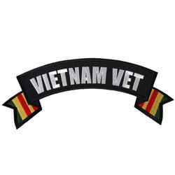 Hot Leathers Vietnam Vet Flag Banner Patch