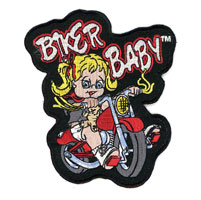 Hot Leathers Biker Baby Girl Embroidered Patch