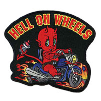 Hell on Wheels Embroidered Patch