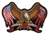 Fire/Eagle Embroidered Patch