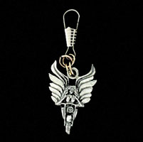 Angel Rider Zipper Pull
