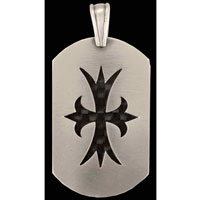 Bico Courageous Cross Silver-Plated Pewter Pendant
