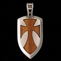 Bico Galahad Wood and Metal Pendant