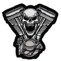 Lethal Threat Skull Motor Embroidered Patch
