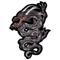 Lethal Threat Gray Dragon Embroidered Patch
