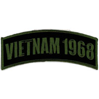 Hot Leathers Vietnam 1968 Arm Rocker Patch