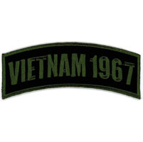 Hot Leathers Vietnam 1967 Arm Rocker Patch