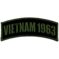 Hot Leathers Vietnam 1963 Arm Rocker Patch