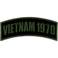 Hot Leathers Vietnam 1970 Arm Rocker Patch