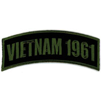 Hot Leathers Vietnam 1961 Arm Rocker Patch