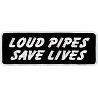 Hot Leathers Loud Pipes Save Lives Lower Back Patch