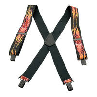 Holdup Flame Suspenders for Bikers