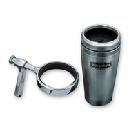 Kuryakyn Clutch or Brake Perch Mount Drink Holder With Stainless Steel Mug