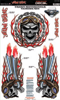 Lethal Threat Red Skull Fairing Kit