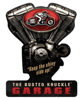 Busted Knuckle Garage V-Twin Sign