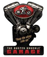 Busted Knuckle Garage V-Twin Sign