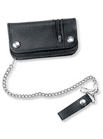 Carroll Leather 6″ Chain Wallet with Outside Zipper Pocket