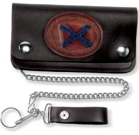 Carroll Leather 6″ Five-Pocket Rebel Flag Chain Wallet
