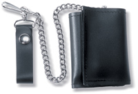 Carroll Leather Leather Trifold Chain Wallet