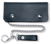 Carroll Leather 7-3/4″ Five-Pocket Biker/Trucker Chain Wallet