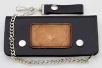 Carroll Leather 7-3/4″ Five-Pocket Flying Eagle Chain Wallet