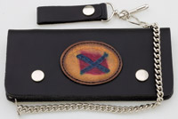 Carroll Leather 7-3/4″ Five-Pocket Rebel Flag Chain Wallet