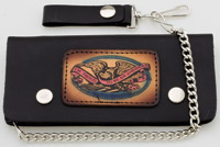 Carroll Leather 7-3/4″ Five-Pocket Proud to Be American Chain Wallet