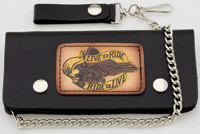 Carroll Leather 7-3/4″ Five-Pocket Live To Ride Chain Wallet
