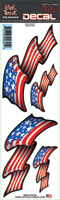 Lethal Threat USA Flag Set Decal