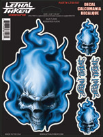 Lethal Threat Blue Flame Decal