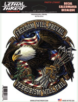 Lethal Threat Freedom Will Prevail Decal