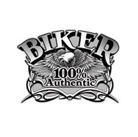 Pewter 100% Authentic Biker Pin