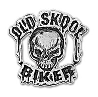 Hot Leathers Pewter Old Skool Biker Pin