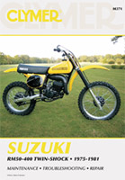 Clymer Suzuki RM50-400 Twin Shock Manual, 1975-1981