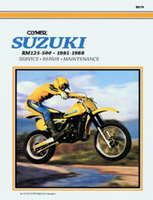 Clymer Suzuki RM125-500 Single Shock Manual, 1981-1988