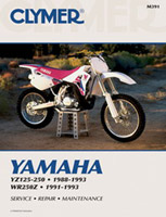 Clymer Yamaha YZ125-250, 1988-1993 and WR250Z, 1991-1993 Manual
