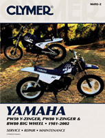 Clymer Yamaha PW50 and PW80 Y-Zinger and BW80 Big Wheel Manual, 1981-2002