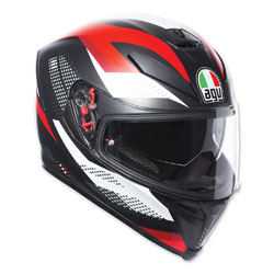 AGV K-5 S Marble Black/White/Red Full Face Helmet